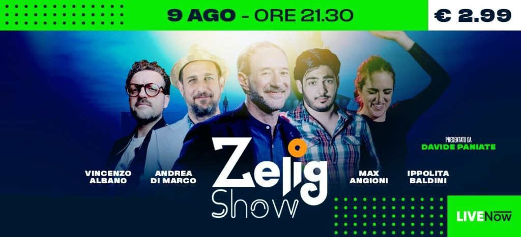 Estate Sforzesca: domenica 9 agosto Zelig Show Summer Edition a Milano per Estate Sforzesca