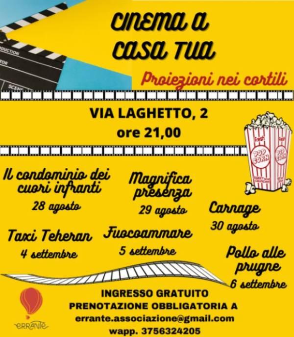 Cinema a casa tua: proiezioni nei cortili di via Laghetto 2 a Milano