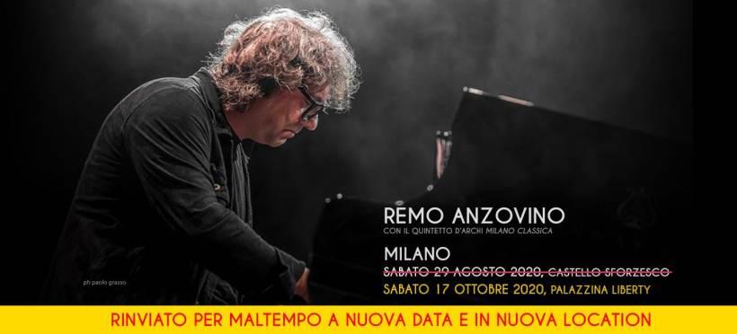 cosa fare a Milano sabato 17 ottobre concerto per pianoforte e archi con Remo Anzovino