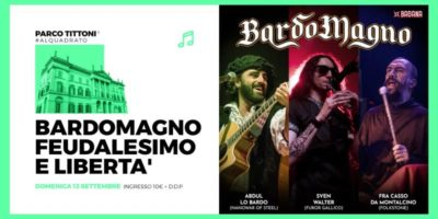 Domenica 13 settembre: Bardomagno in concerto a Parco Tittoni