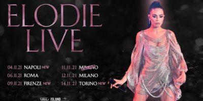 Elodie in concerto: rinvio all'autunno 2021 per le date a Milano