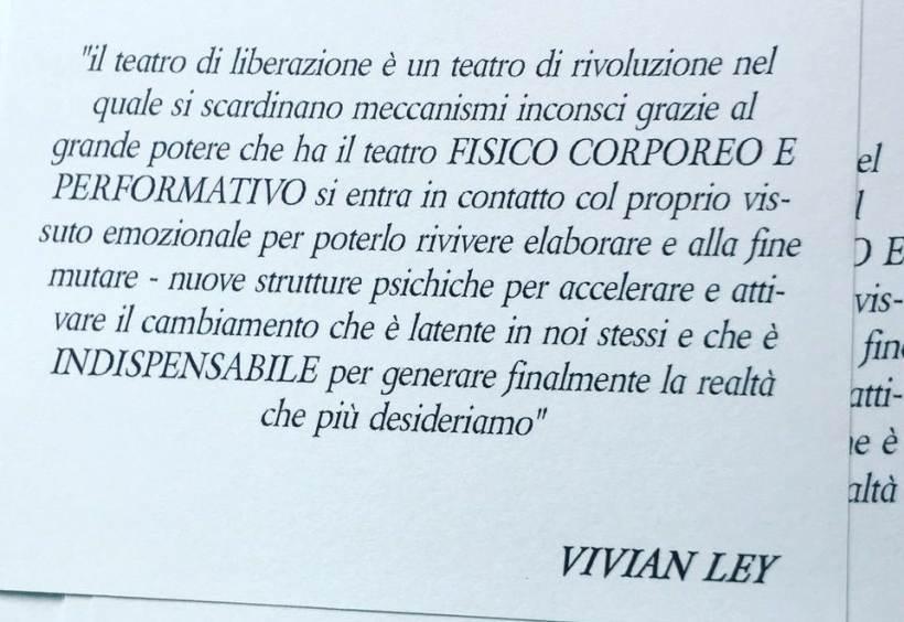cosa fare a Milano sabato 3 ottobre: Teatro di liberazione con Vivian Ley
