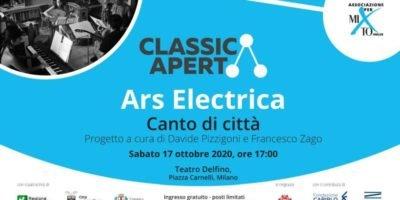 Ars Electrica: Canto di città. Concerto sabato 17 ottobre al Teatro Delfino di Milano