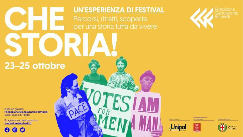 venerdì 23 ottobre eventi a Milano Festival Che Storia