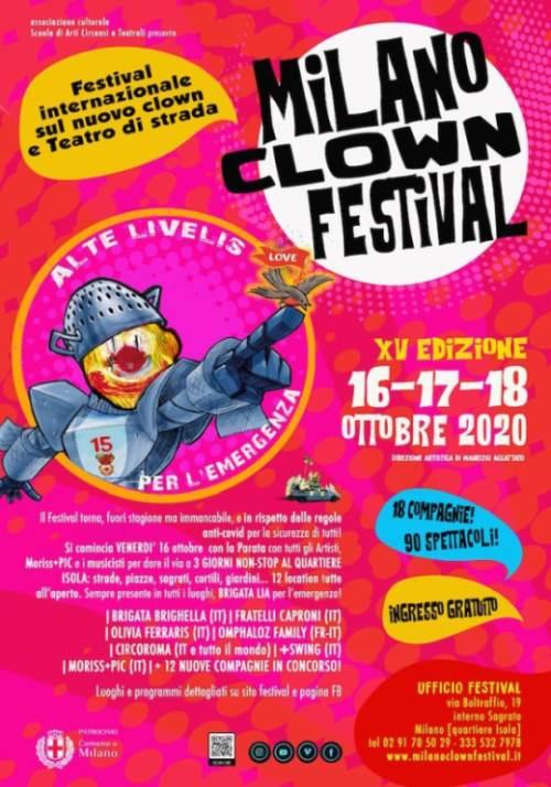 Da venerdì 16 a domenica 18 ottobre: MILANO CLOWN FESTIVAL XV edizione