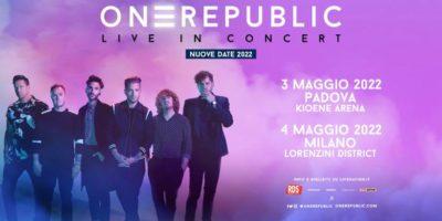 OneRepublic in concerto a Milano: nuova data e biglietti