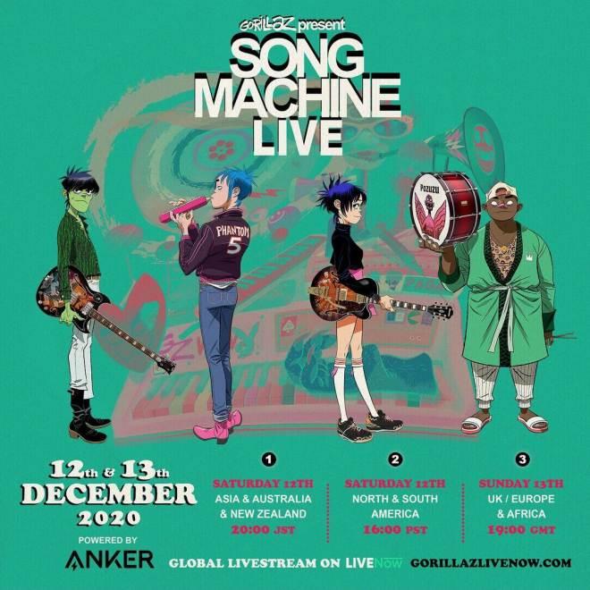 Song Machine Live – Gorillaz in concerto da Londra domenica 13 dicembre