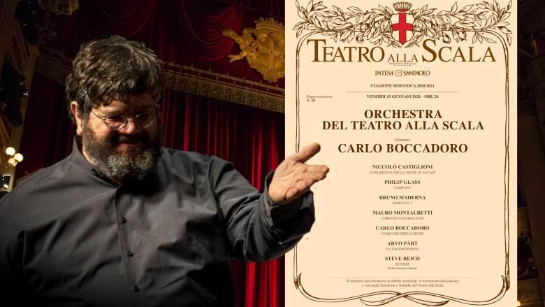 Venerdì 15 gennaio:Carlo Boccadoro dirige l'Orchestra del Teatro alla Scala di Milano