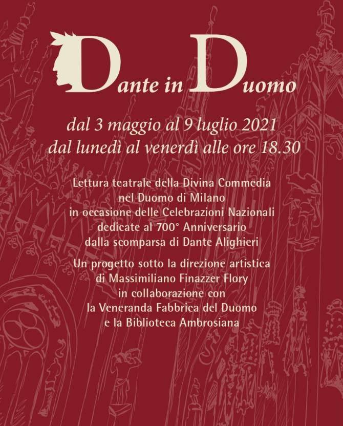 Dante in Duomo a Milano: lettura integrale della Divina Commedia