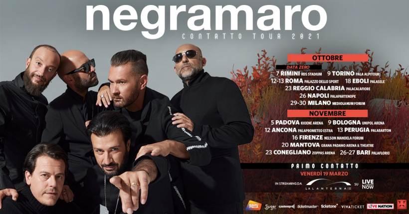 Concerti a Milano: il Negramaro Contatto Tour 2021 fa tappa al Mediolanum Forum
