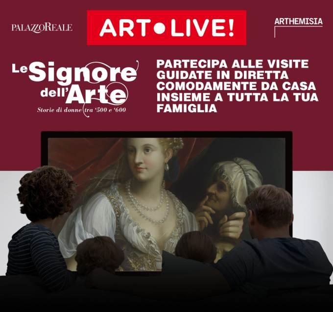 visita guidata online alla mostra Le Signore dell'Arte. Storie di donne tra '500 e '600