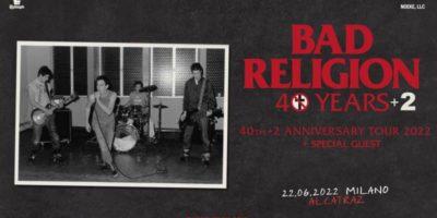 I Bad Religion in concerto all'Alcatraz di Milano a giugno 2022