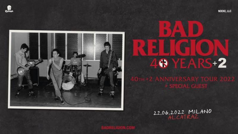 I Bad Religion in concerto all'Alcatraz di Milano a giugno 2022