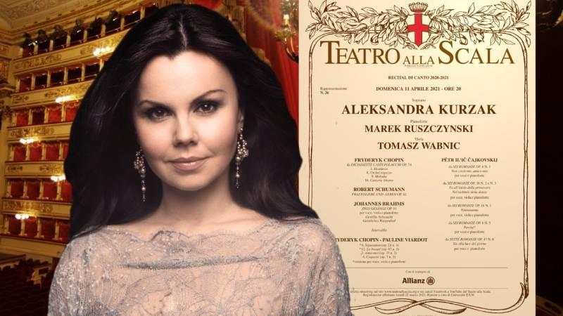 Domenica 11 aprile: Recital di canto di Aleksandra Kurzak dal Teatro alla Scala