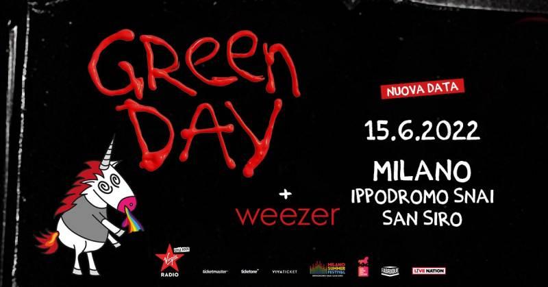 Riprogrammato il live dei Green Day a Milano