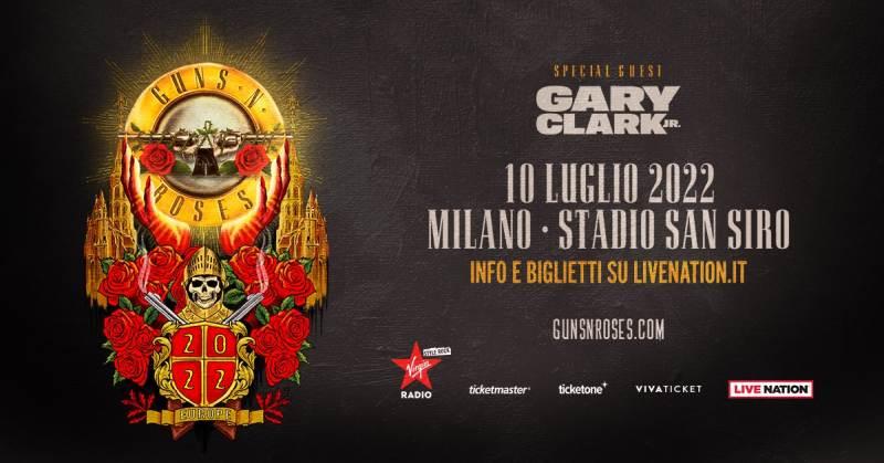 Guns N' Roses a Milano il 10 luglio 2022