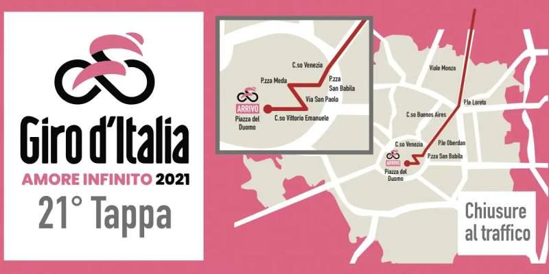 Viabilità Milano: strade chiuse al traffico domenica 30 maggio per il Giro d'Italia