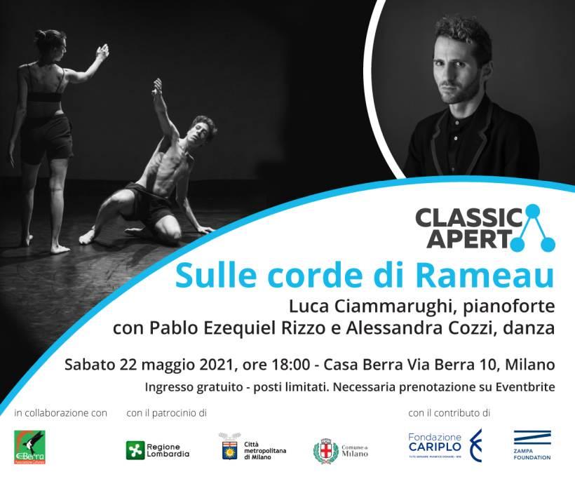 Sulle corde di Rameau - Progetto artistico con Luca Ciammarughi organizzato da Associazione Per MITO ETS