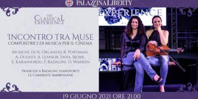 Sabato 19 giugno in Palazzina Liberty a Milano Incontro tra muse