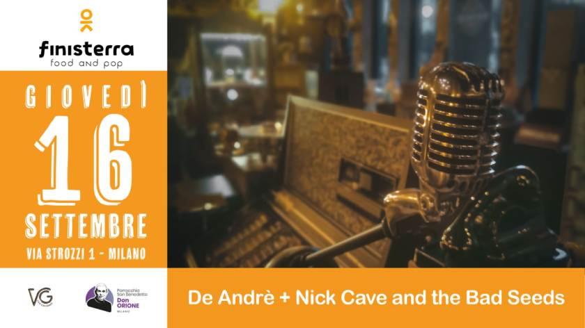 Giovedì 16 settembre al Finisterra Village il Mistero della Fede, da De André a Nick Cave