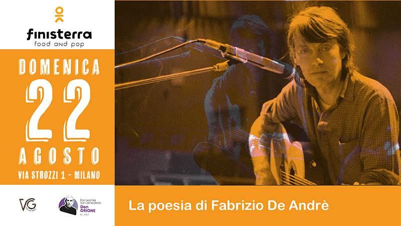 Domenica 22 agosto, cosa fare a Milano: tributo a Fabrizio De Andrè al Finisterra Village