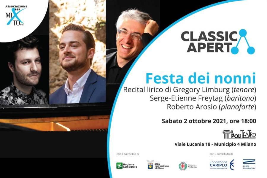 Sabato 2 ottobre: recital lirico in occasione della Festa dei nonni al PoliTeatro di Milano