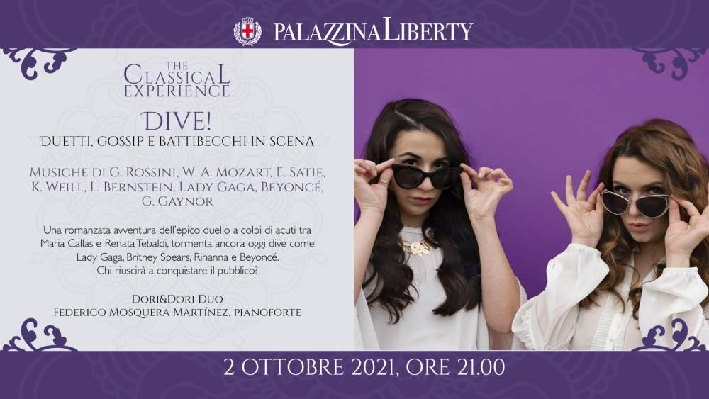 sabato 2 ottobre a Milano il concerto Dive! Duetti, Gossip e battibecchi in scena