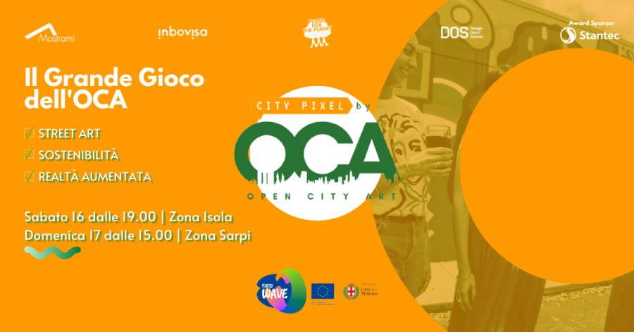A Milano Il Grande Gioco dell'OCA: Open City Art - Street Art, sostenibilità e realtà aumentata