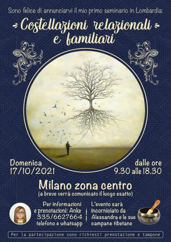 Costellazioni relazionali e familiari: seminario in centro a Milano