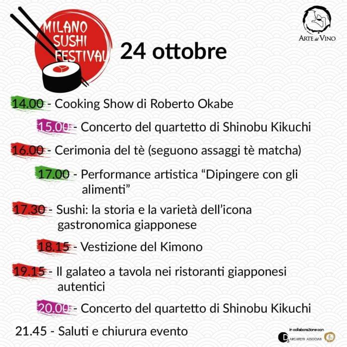 Milano Sushi Festival: programma eventi di domenica 24 ottobre in Piazza Città di Lombardia