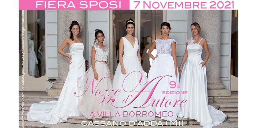 Domenica 7 novembre: Nozze d'Autore a Villa Borromeo 2021